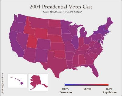 Voting problem map
