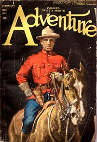 Cover of 1918 <i>Adventure</i> magazine