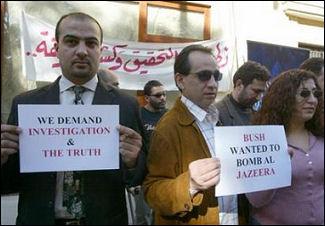 Protest at Aljazeera
