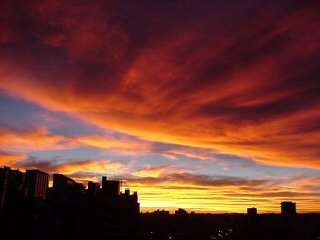 Sunset over Curitiba