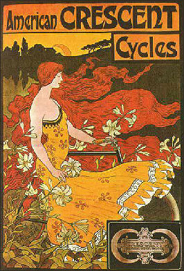 American Crescent Bicycles poster