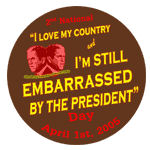 Embarrassed by the President Day logo