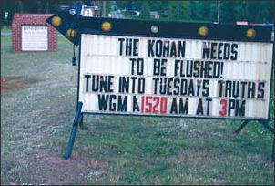 Anti-Muslim sign