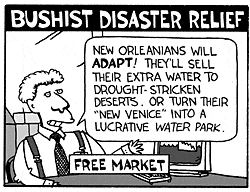 Bushist disaster relief