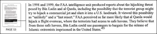 9/11 report excerpt with restored edit