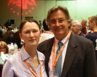 Ambassador Joseph Wilson and natasha celine at Yearly Kos. June, 2006.