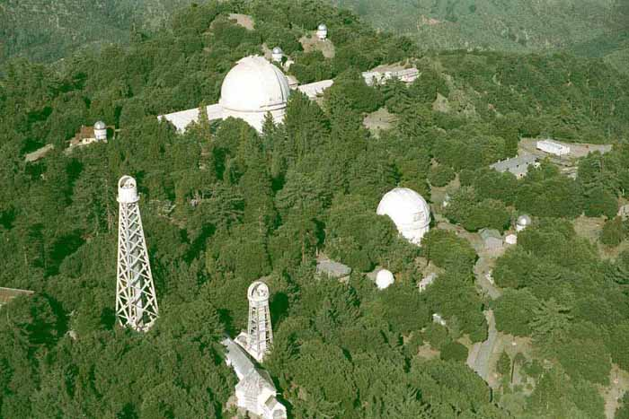 Aerial view of Mt Wilson Observatory